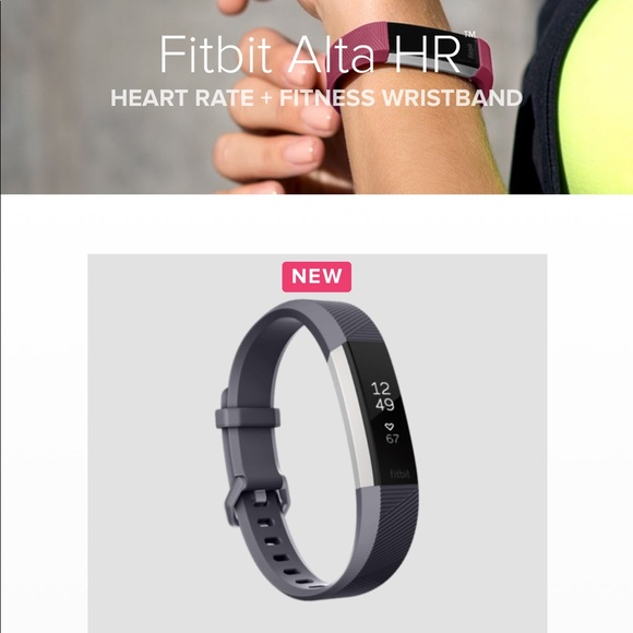 Small NIB Fitbit Alta HR Heart Rate Activity Tracker Gift Set Wristband /& Band